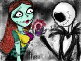 Jack and Sally by LadyPrincessJess