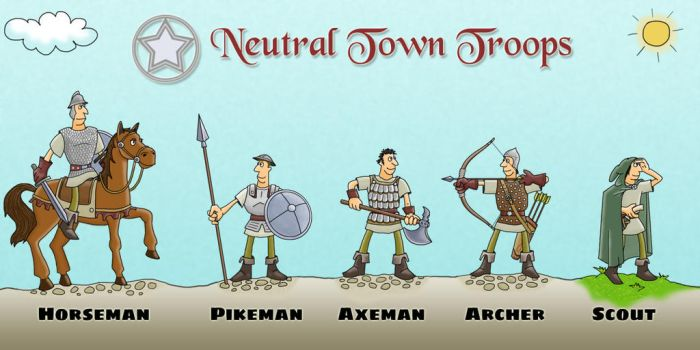 Neutral Town Troops of Undecima by MKerogazov