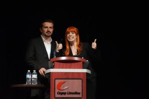 Tony Stark and Pepper Potts MCs GeekFest 4 by SerenityPhoenix