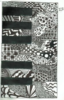 Piano Zentangle by 1dhorseyblob