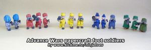 Advance Wars papercraft foot soldiers by ninjatoespapercraft