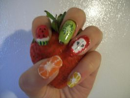 Fruit Nails by BazingaDeBruceNinja