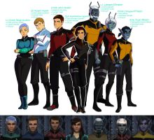 Star Trek Online: The Avenger's Crew by WesternSpice