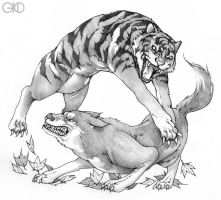 Fable of Wolf and Tiger by Gido