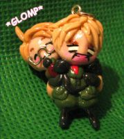 APH USxUK Phone Charm by colormedisturbed