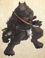The Wolven Swordsman by RalphTheFeline
