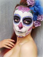 Sugar skull make up by Naida by KatherinBathory