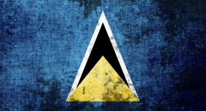 flag of St Lucia (grunge) by flagArtist