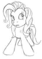 G3 pony sketch by AdolfWolfed4Life