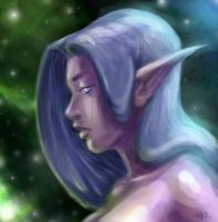 Night Elf Portrait by Chadwick-J-Coleman