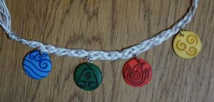 ATLA/LOK Elements Bracelet by KatKatDreamer95
