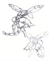 Metal Gear Ray Rough Sketch by SolidAlexei