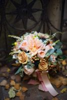 A Fall Wedding Bouquet by IMOInk
