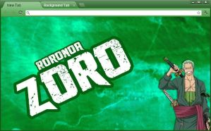 One Piece Chrome Theme: Roronoa Zoro by yohohotralala