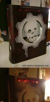 Gears of War custom xbox 360 by Red-Revolver