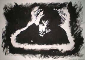 Robert Smith Tribute Guache by 1stStepToDeath