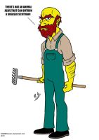 Groundskeeper Willie by DANGERcomics