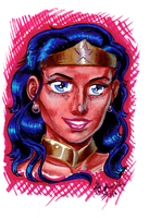 some kinda portrait: Wonder Woman by AmethystSadachbia