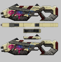 Bounty Hunter: Black Dawn - Assault rifle 03 by millionart
