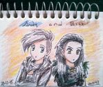 Chibi Bill Kaulitz and Andy Biersack  by ann47 by ann47