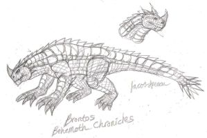 Brontos Concept Sketch by JacobMatthewSpencer