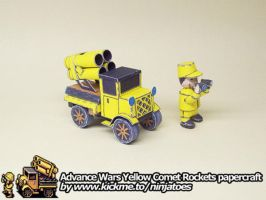 papercraft Advance Wars Yellow Comet Rockets by ninjatoespapercraft