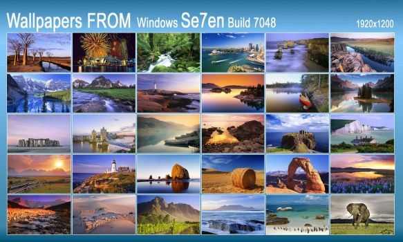 Wallpaper FROM Win7 build 7048 by AlveR-spb