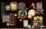 Steampunk Desktop looking a little crowded by yereverluvinuncleber