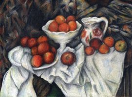 Cezanne's apples and oranges by AnnaSulikowska