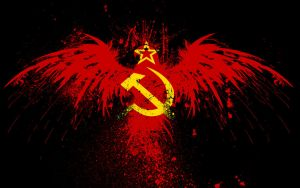 Bloody hammer and sickle with a star by xxkillkingxx