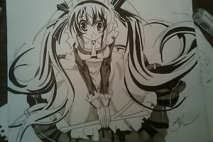 Hatsune Miku Maids outfit by Vanguard204