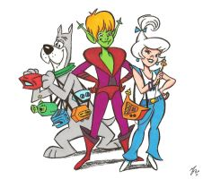 Teen Jetsons Judy and friends by zombiegoon