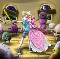 Adventure Time: Zombie apocolypse by OmyGlob