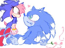 Sonamy In Sonic Uneashed by SaphireDabria