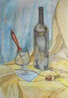 Still Life With Brush in The Glass by SatenkoDmitry
