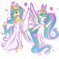 Princess Celestia by chibimlp-lover