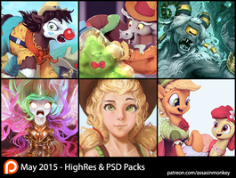 May Patron Packs - HighRes and PSD by AssasinMonkey