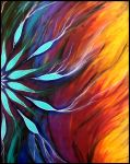Dream Catcher - Acrylic on Canvas by andromeda
