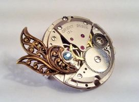 Steampunk Themed Brooch by SteamDesigns