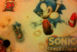 My Friend's Pencil Sonic Generations Drawing by supersonicartdrawer
