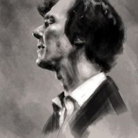 Benedict Cumberbatch by GrayscaleArt
