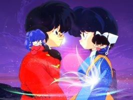 Ranma and Adeline by Dedechoutinette