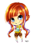 Tiger and Bunny OC - Casey Hood Chibi by Caustic-Creations