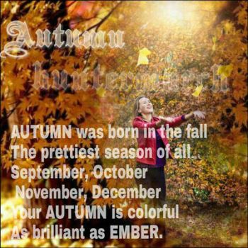 Autumn *Girl's Name Poems by huntermarch