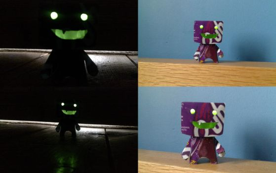 Can Robot With Glowing Eyes by j0ne5y