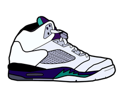 Jordan V 'Grape' Sketch by MattisamazingPS