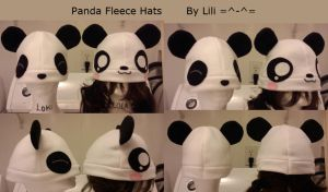 Panda Fleece Hat by LiliNeko
