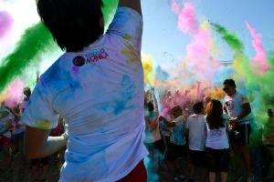 Jumping Guy In The Color Run in Cebu, Philippines by bluetekk