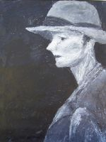 Woman in Hat by EricJWhite