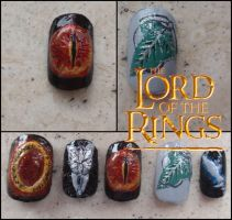 the Lord of the Rings nails by JawsOfKita-LoveHim